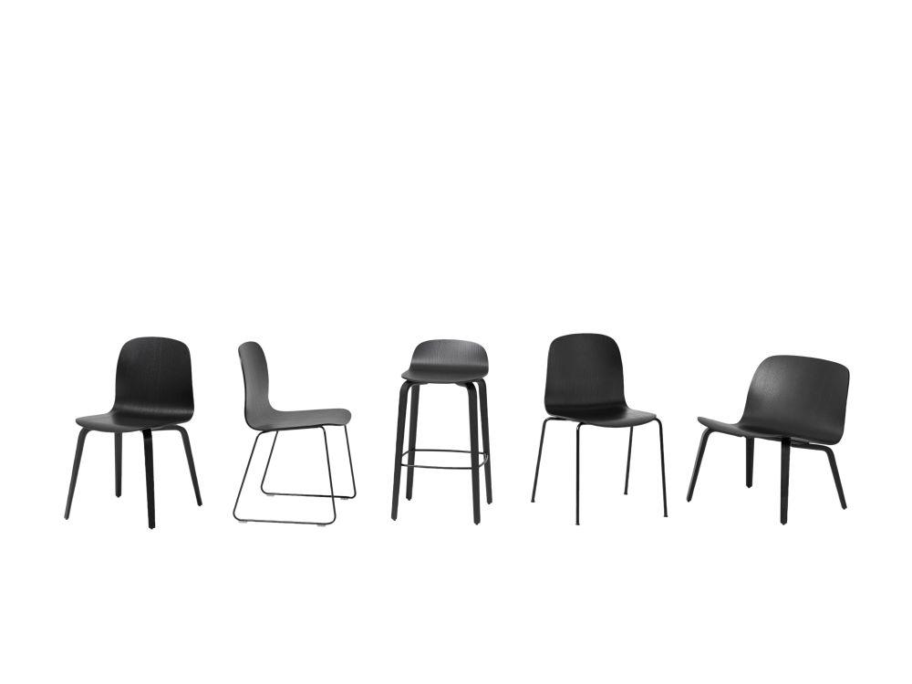 Visu Chair Wood Base by Muuto