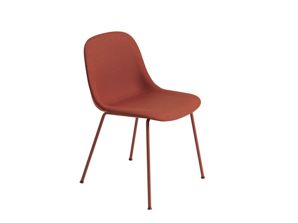 Endure Leather Dusty Red,Muuto,Dining Chairs,chair,furniture,line,orange