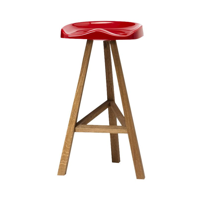 Black, 65 x 42.5 cm,Established & Sons,Stools,bar stool,furniture,stool,table