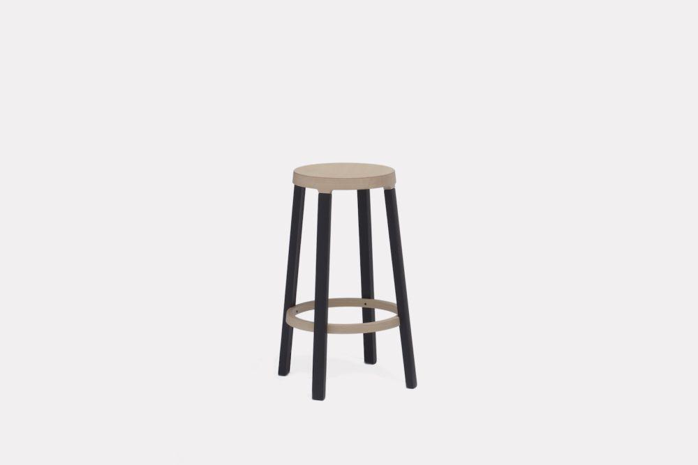Blue Black, 65cm,Established & Sons,Stools,bar stool,furniture,stool