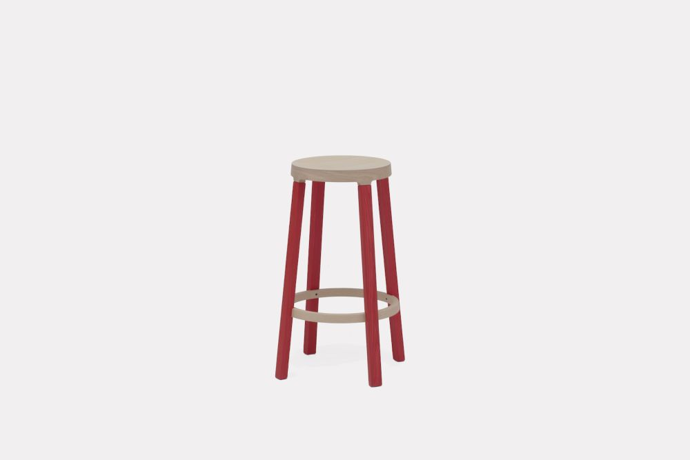 Red, 75cm,Established & Sons,Stools,bar stool,furniture,red,stool