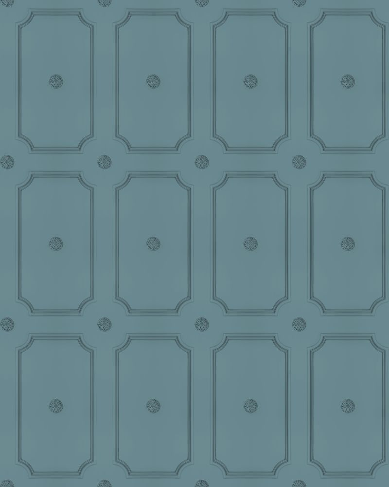 French Grey Georgian Dot Panelling Wallpaper,Mineheart,Wallpapers,design,pattern