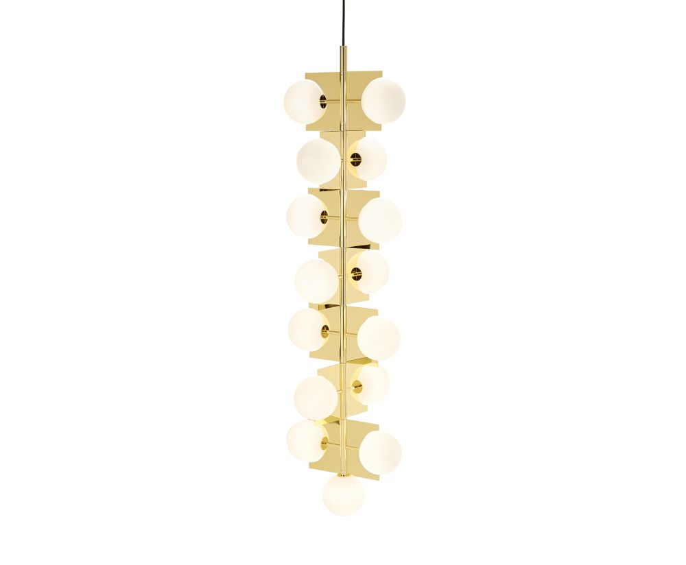 Tom Dixon,Chandeliers,ceiling fixture,lighting,white,yellow