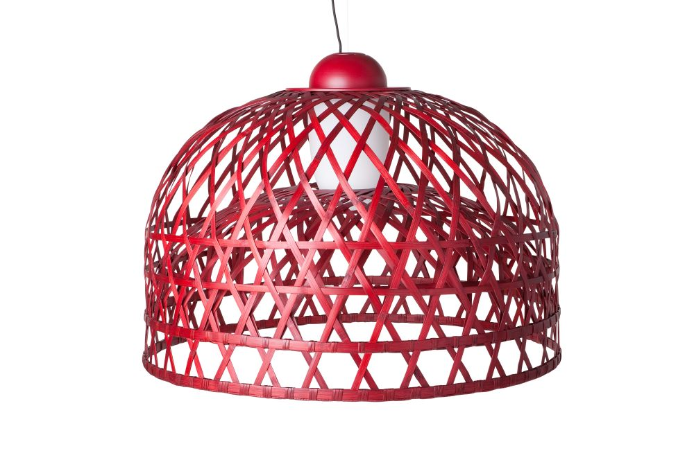 Moooi RAL 9005, Small,MOOOI,Pendant Lights,cage,ceiling fixture,dome,lamp,lampshade,light,light fixture,lighting,lighting accessory,red