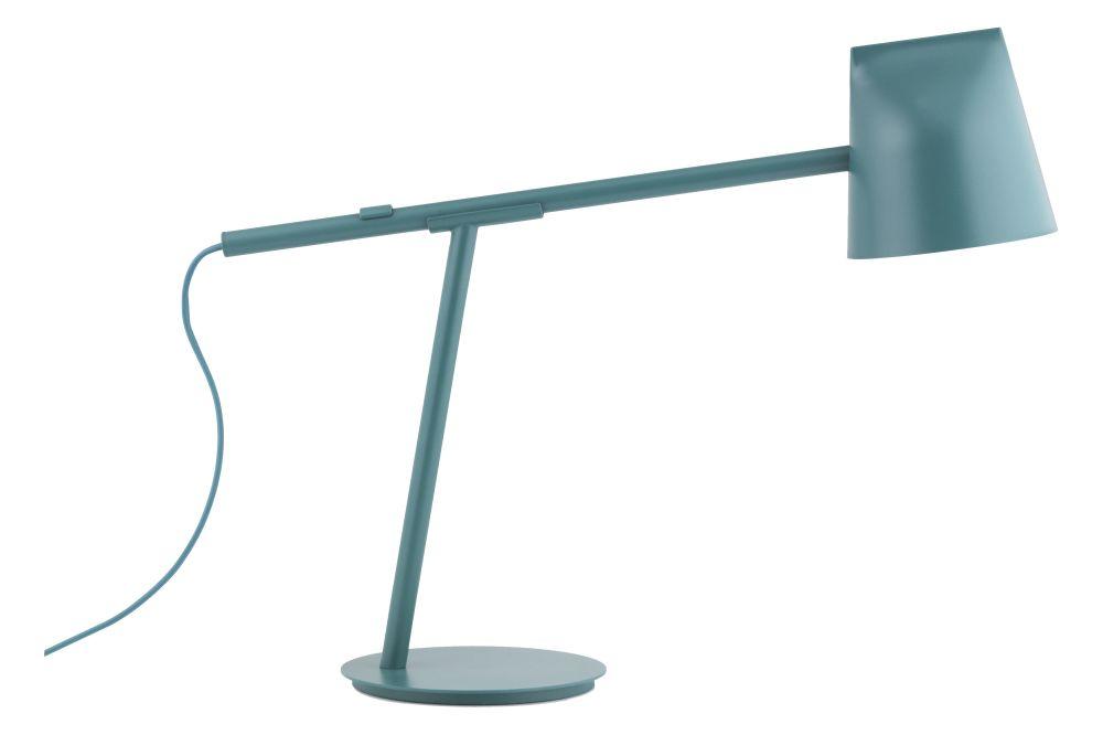 White,Normann Copenhagen,Table Lamps,lamp,light fixture,lighting,turquoise