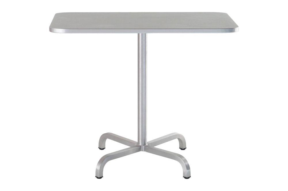 White Laminate Top, Matt Aluminium Edge, 76 x 60 x 60 cm,Emeco,Dining Tables,desk,end table,furniture,outdoor table,rectangle,table