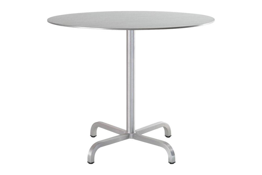 White Laminate Top, Matt Aluminium Edge, 76 x Ø60,Emeco,Coffee & Side Tables,coffee table,end table,furniture,outdoor table,table