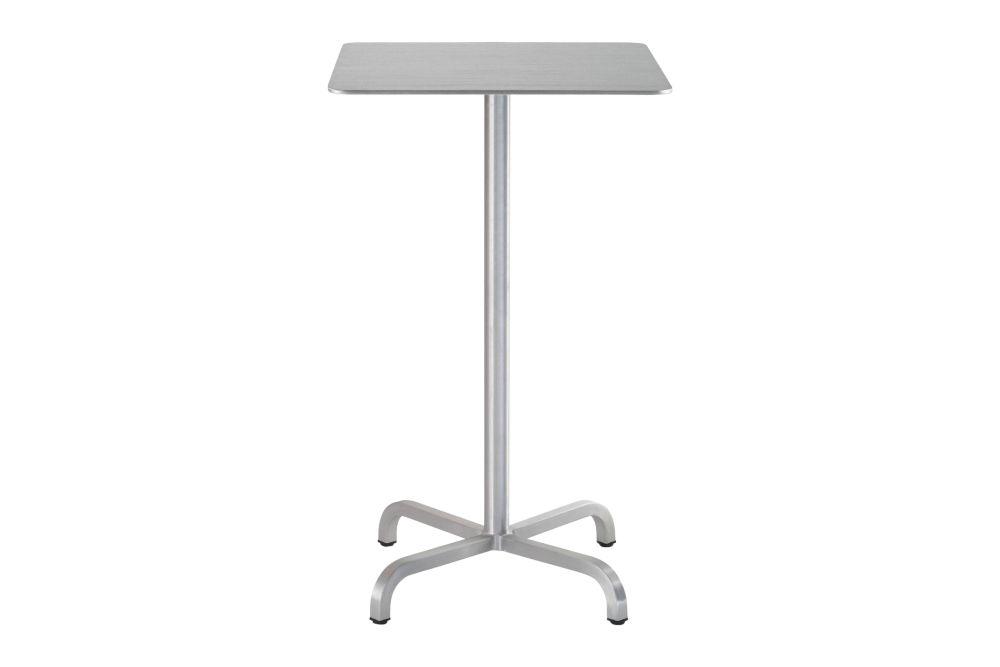 White Laminate Top, Matt Aluminium Edge, 106 x 60 x 60 cm,Emeco,High Tables,end table,furniture,outdoor table,table