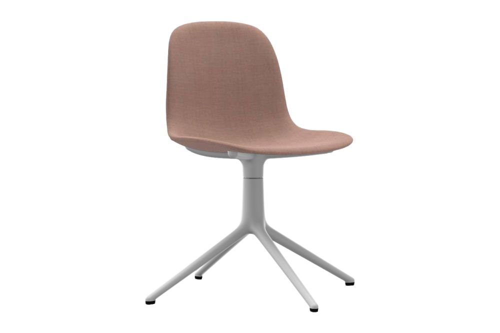Sørensen Ultra Leather Black Brown - 41590, NC White Aluminium,Normann Copenhagen,Office Chairs,beige,brown,chair,furniture,office chair