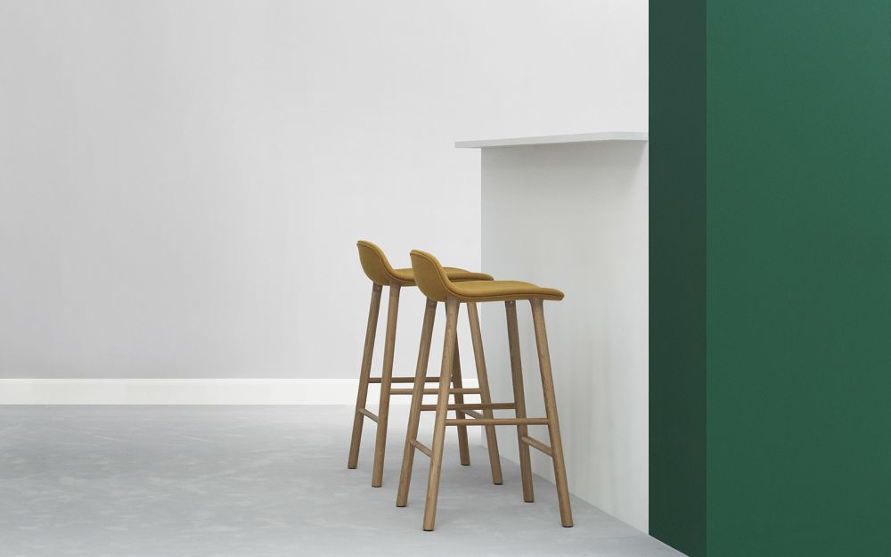 Strange Form Barstool Fully Upholstered From Normann Copenhagen Gmtry Best Dining Table And Chair Ideas Images Gmtryco