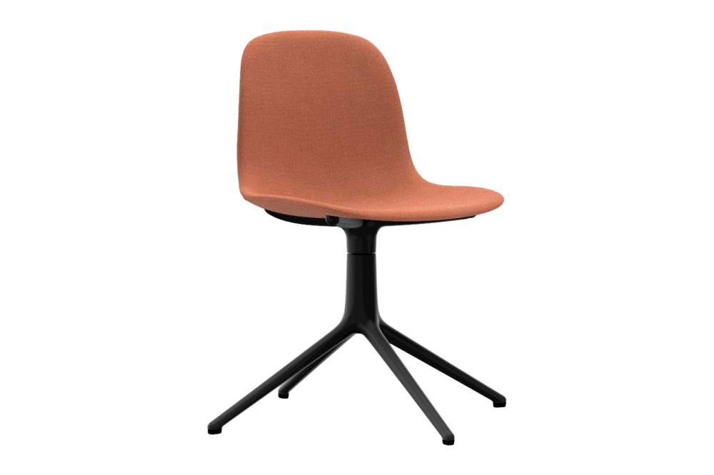 Breeze Fusion 04101, NC White Aluminium,Normann Copenhagen,Office Chairs,brown,chair,furniture,office chair,orange,plastic