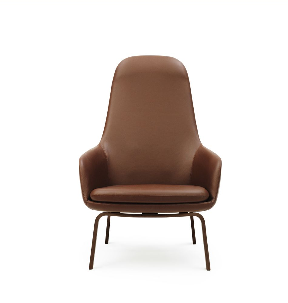 Sørensen Ultra Leather Altweiss 41576, Black Lacquered Wood,Normann Copenhagen,Lounge Chairs,brown,chair,furniture,leather