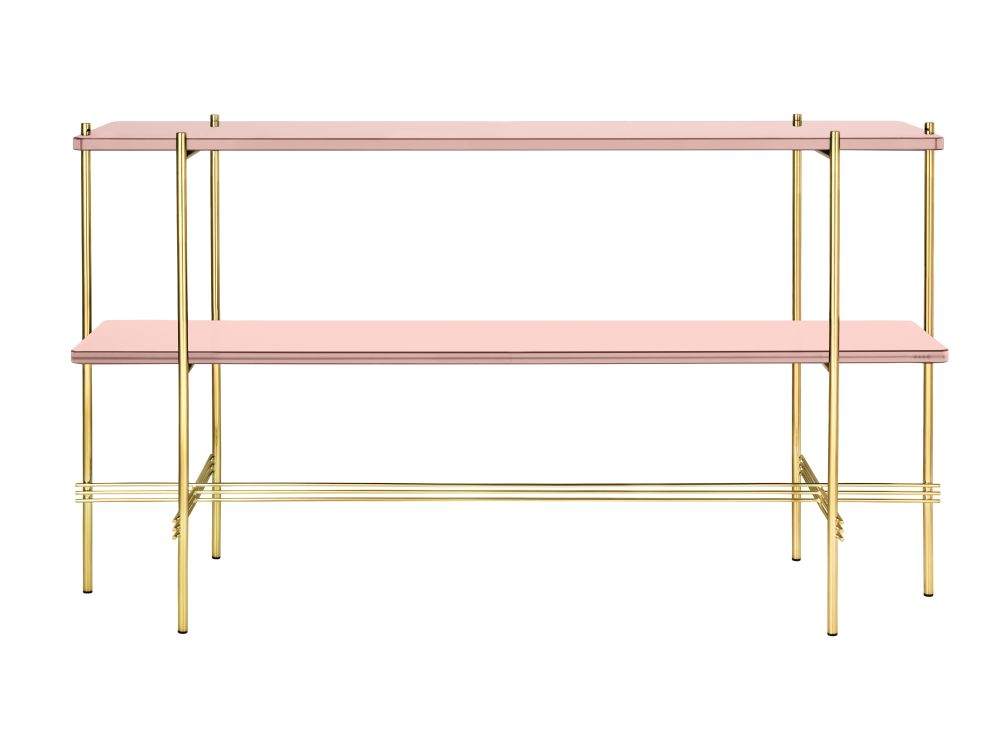 Gubi Glass Vintage Red, Gubi Metal Brass,GUBI,Console Tables,furniture,line,shelf,shelving,table