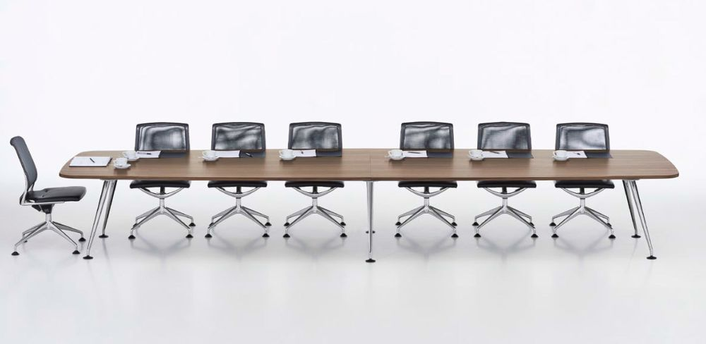 MedaMorph Boat-Shaped Conference Table 440x140 by Vitra