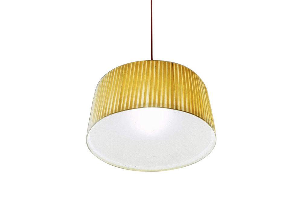 Cream plissé, Large,Contardi Lighting,Pendant Lights,ceiling,ceiling fixture,lamp,lampshade,light,light fixture,lighting,lighting accessory,yellow