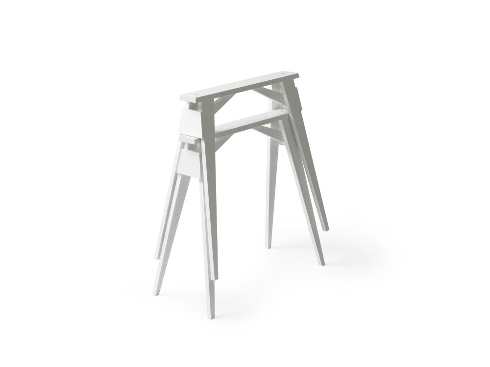 White,Design House Stockholm,Office Tables & Desks,furniture,stool,table