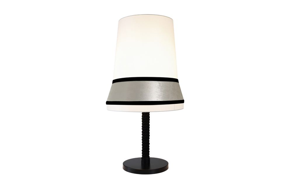 Ivory coto/ivory velvet/ Ivory silky trim, Medium,Contardi Lighting,Table Lamps,lamp,light fixture,lighting