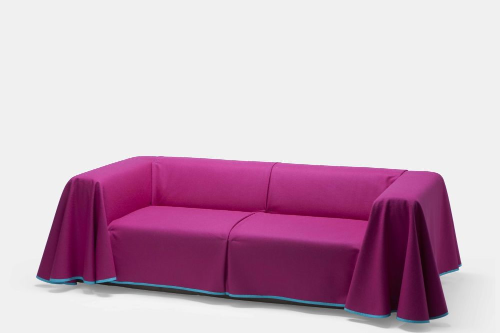 Divina 3 106, Removable Cover,Established & Sons,Sofas,couch,furniture,magenta,pink,purple,sofa bed,violet