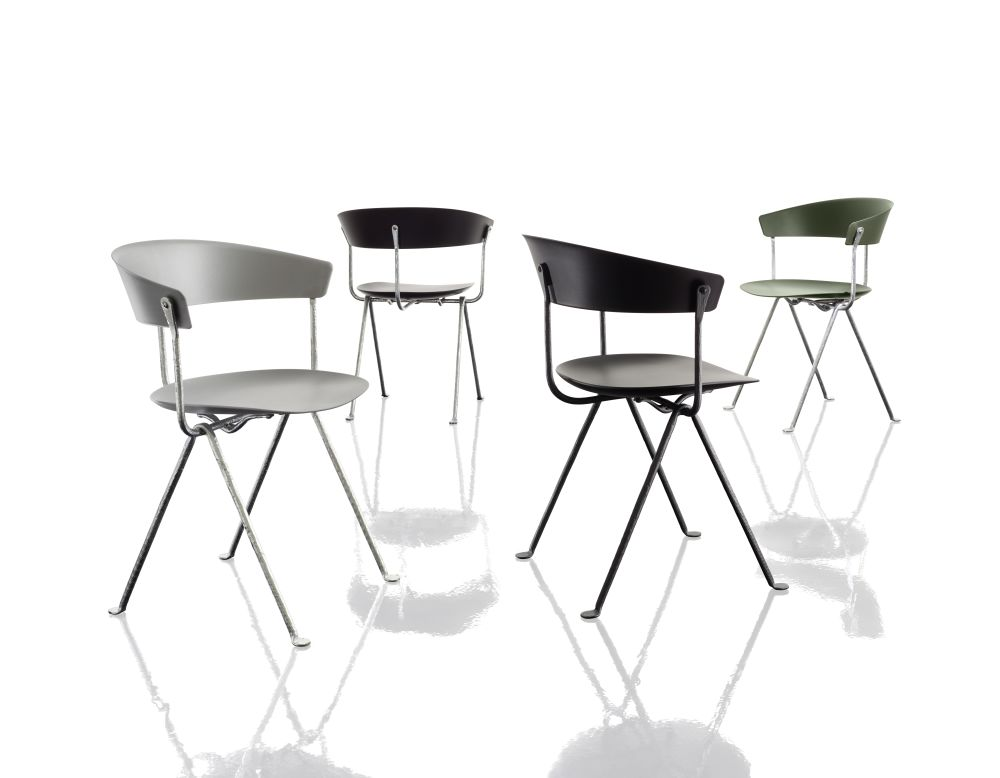 Galvanized, Magis Leather Natural L-0059, Polypropylene with leather,Magis Design,Seating,bar stool,chair,furniture,stool,table