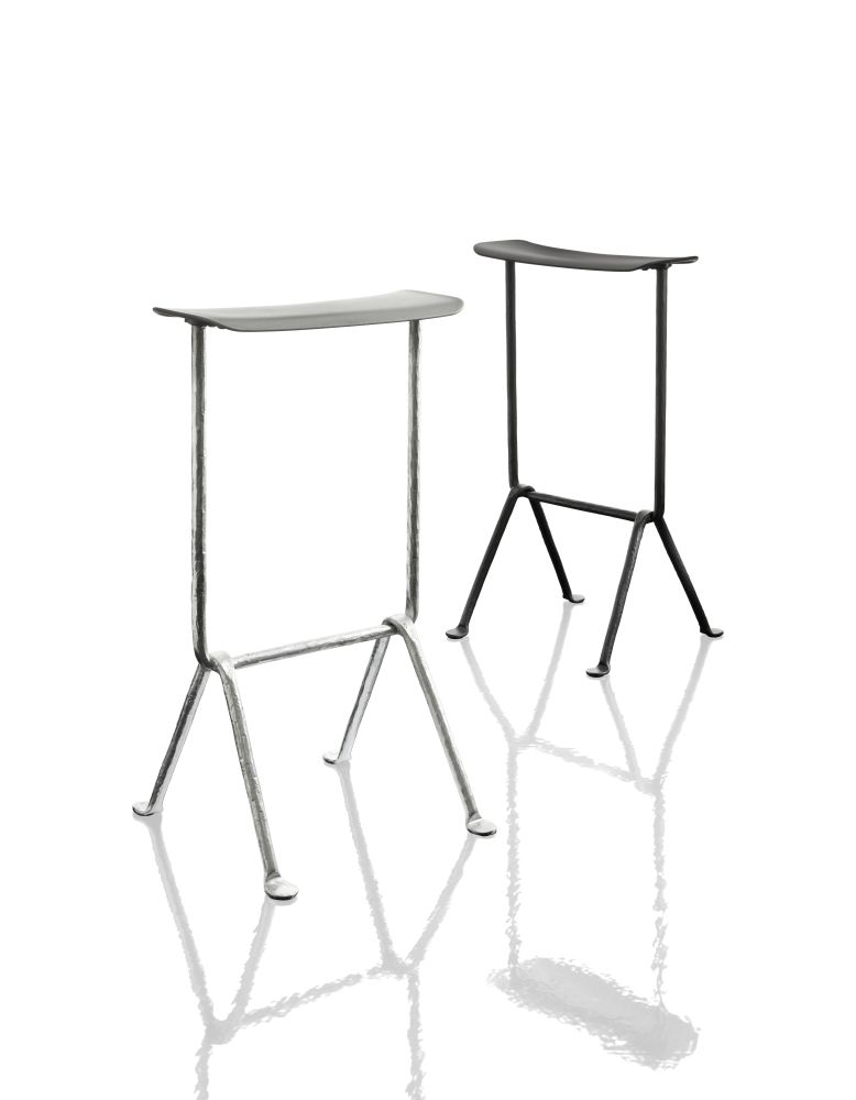 Galvanized, Magis Leather Natural L-0090, 75cm,Magis,Stools,furniture,table