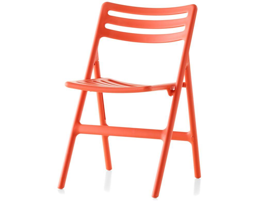 Matt Orange,Magis,Seating,chair,folding chair,furniture,orange,red
