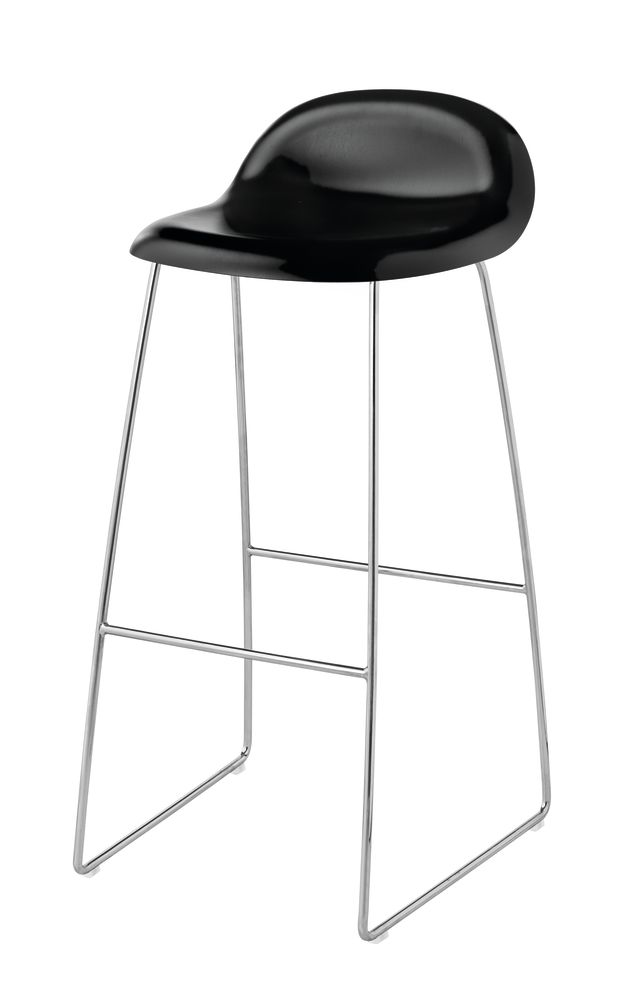 Gubi HiRek Black Semi Matt, Gubi Metal Black, Felt Glides,GUBI,Stools,bar stool,furniture,stool