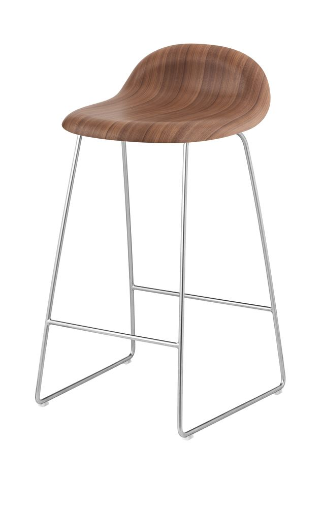 Gubi HiRek Mistletoe Green, Gubi Metal Chrome, Felt Glides,GUBI,Stools,bar stool,furniture,stool,table