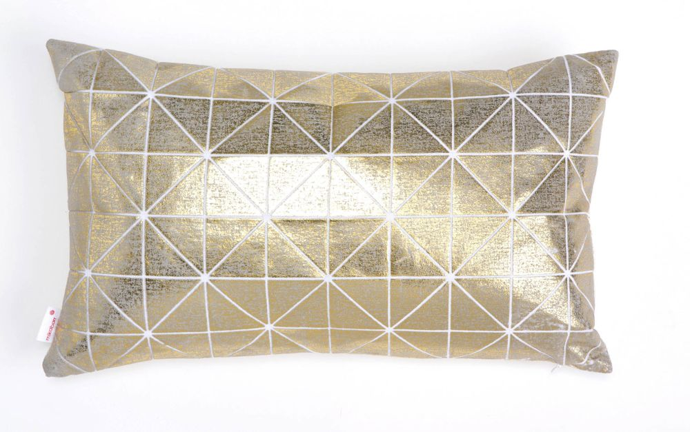 Bling Grey & Gold_s,Mikabarr,Cushions,beige,cushion,design,furniture,linens,pattern,pillow,rectangle,textile,throw pillow