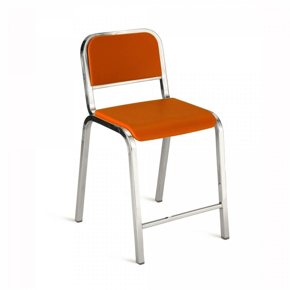 Gray, Brush, Bar Back,Emeco,Stools,chair,furniture,orange