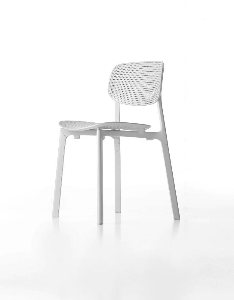 White polypropylene, N/A,Kristalia,Seating,chair,design,furniture,white