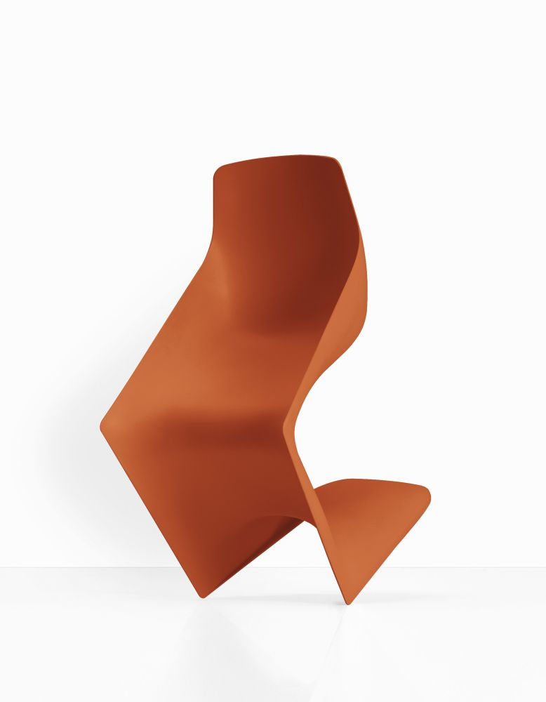 White polypropylene,Kristalia,Seating,chair,furniture,orange