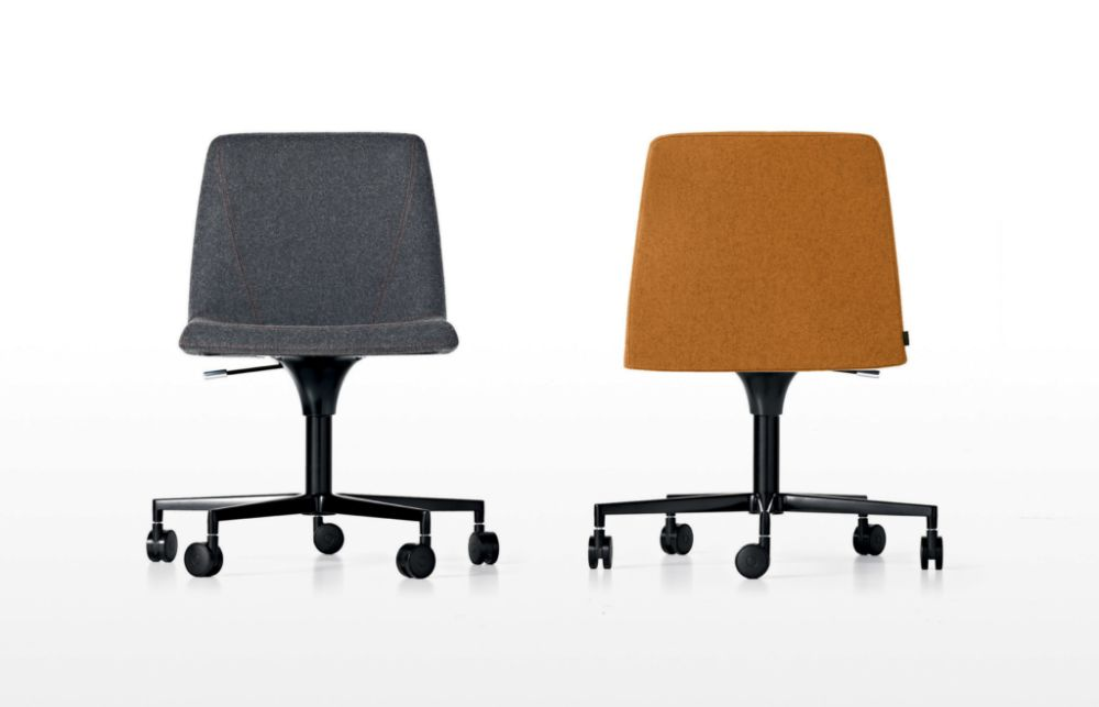 A7244 - Field 762 blue, White lacquered aluminium, Black Plastic, Same on upholstery,Kristalia,Seating,chair,furniture,office chair,orange
