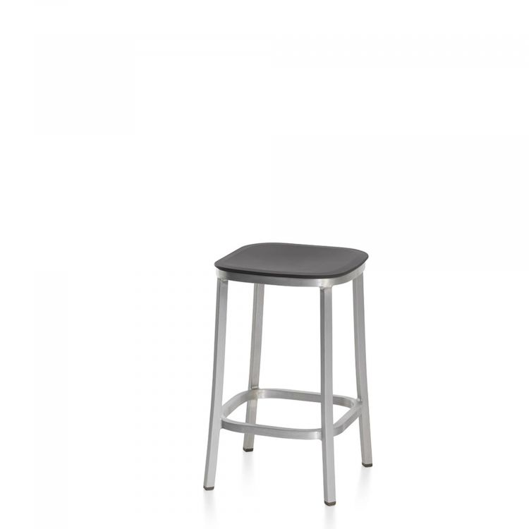 Dark Grey, Hand Brushed Aluminum,Emeco,Stools,bar stool,chair,furniture,stool,table