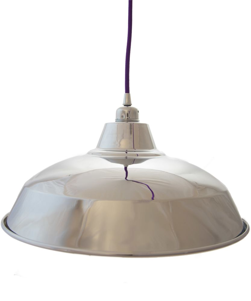 Silver Reflective Industrial Lamp Shade by William and Watson