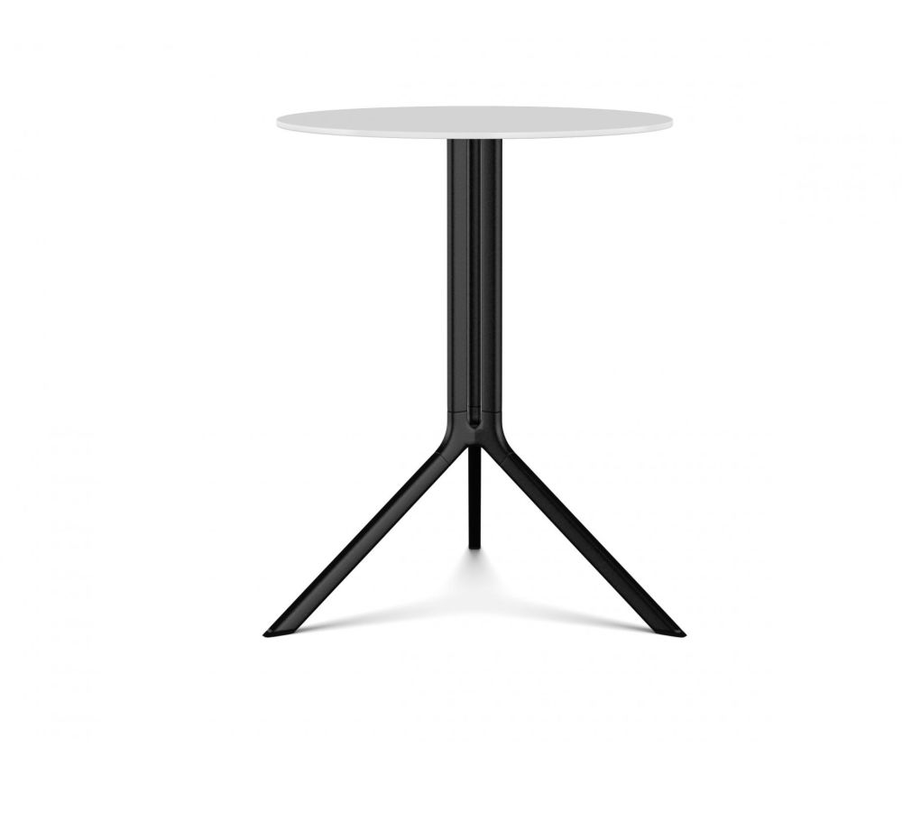 White Lacquer, Black Laminate, 59, 73,Kristalia,Dining Tables,end table,furniture,outdoor table,table