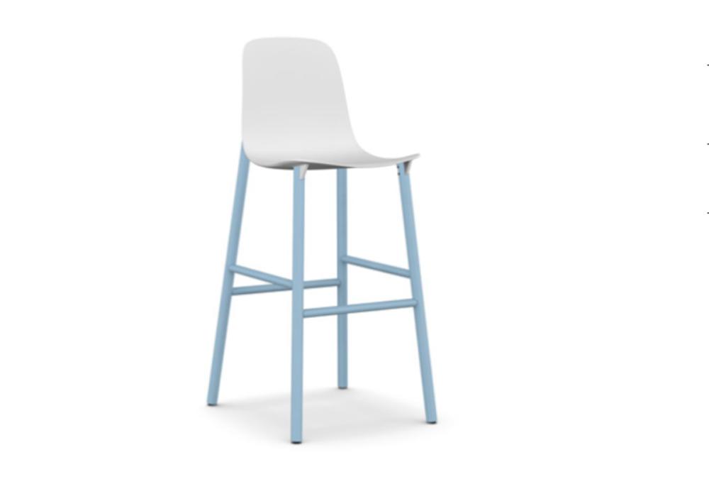 White polyurethane - PO1, 66cm,Kristalia,Stools,bar stool,chair,furniture,stool,white