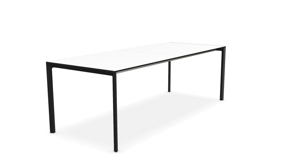 114, White, Alucompact white,Kristalia,Tables & Desks,desk,end table,furniture,line,outdoor table,rectangle,sofa tables,table