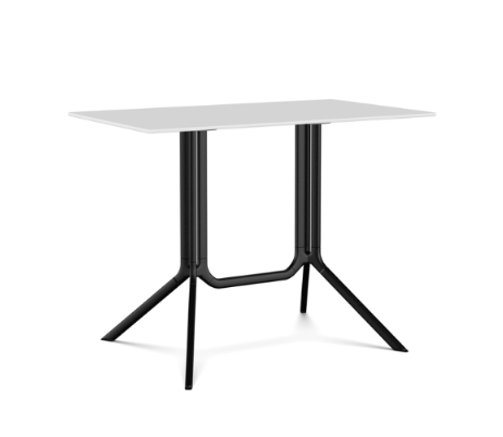 White, Black, L100 x D59 x H75,Kristalia,Dining Tables,end table,furniture,outdoor table,rectangle,table