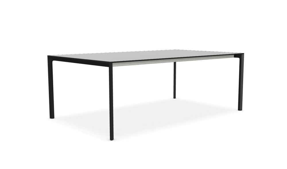 139, White lacquered aluminium, Gloss glass extra white, N/A,Kristalia,Tables & Desks,coffee table,desk,end table,furniture,outdoor table,rectangle,sofa tables,table