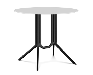 White Lacquer, Black Laminate, 90,Kristalia,Dining Tables,end table,furniture,outdoor table,table