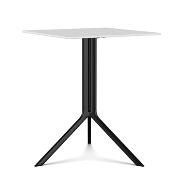 White Lacquer, Black laminate, 59 x 59 x 75,Kristalia,Dining Tables,end table,furniture,outdoor table,table