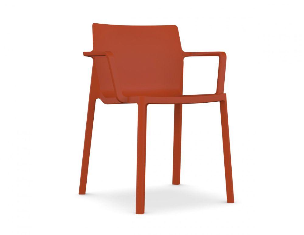 White polypropylene, N/A,Kristalia,Seating,chair,furniture,orange