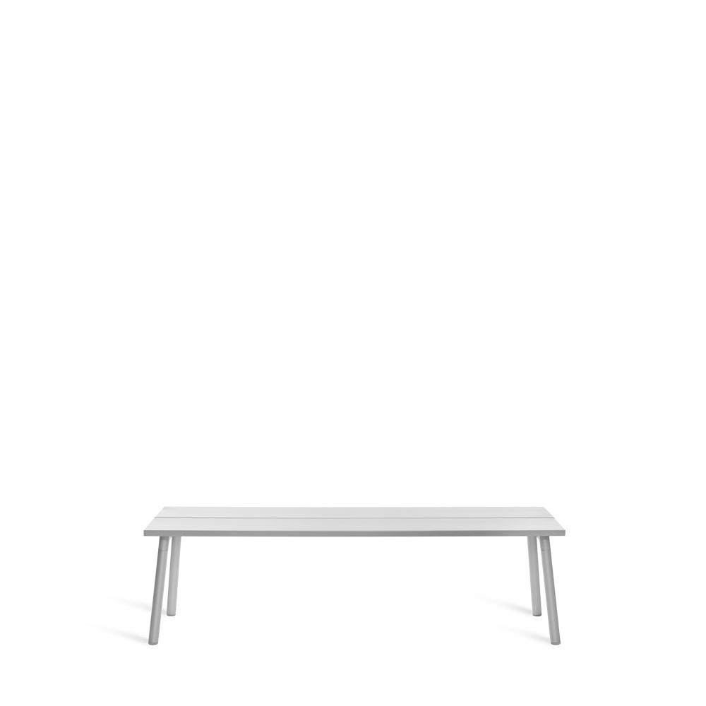 Ash, Aluminum,Emeco,Benches,furniture,rectangle,table,white