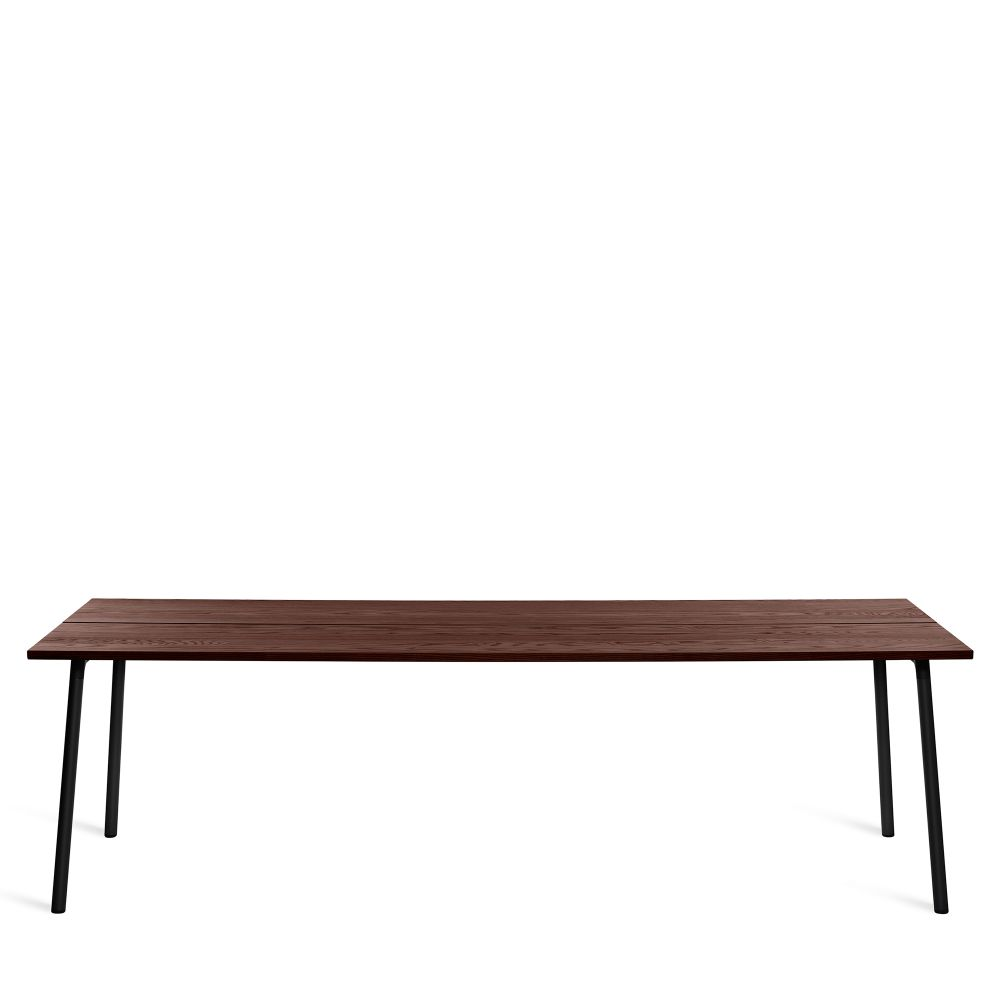244cm, Black Powder Coated, Walnut,Emeco,Dining Tables,coffee table,desk,furniture,outdoor bench,outdoor table,rectangle,sofa tables,table