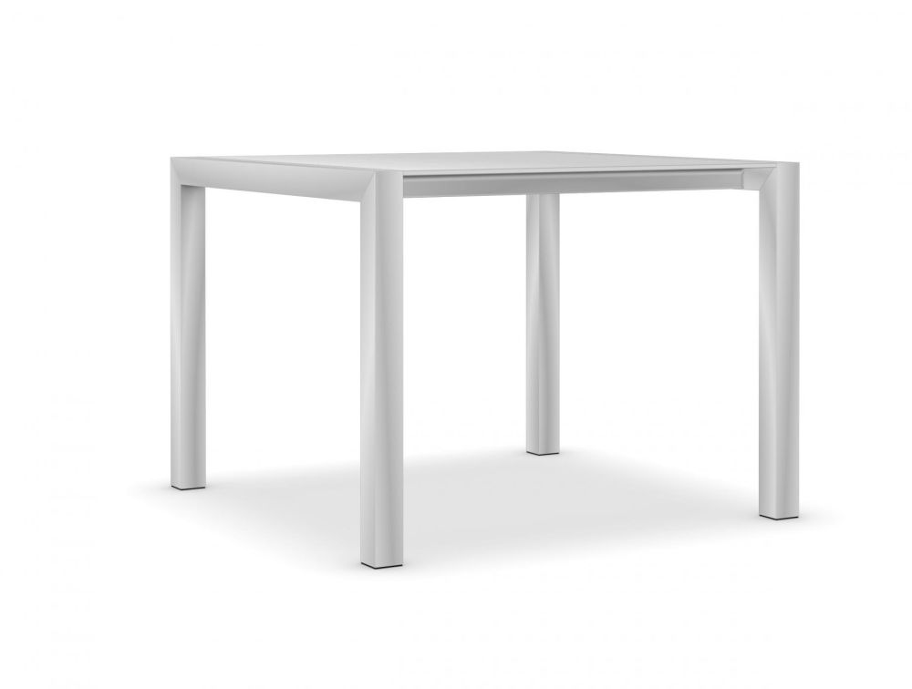 100, Anodised Aluminium, Gloss glass: Extra White,Kristalia,Tables & Desks,furniture,line,outdoor furniture,outdoor table,rectangle,stool,table