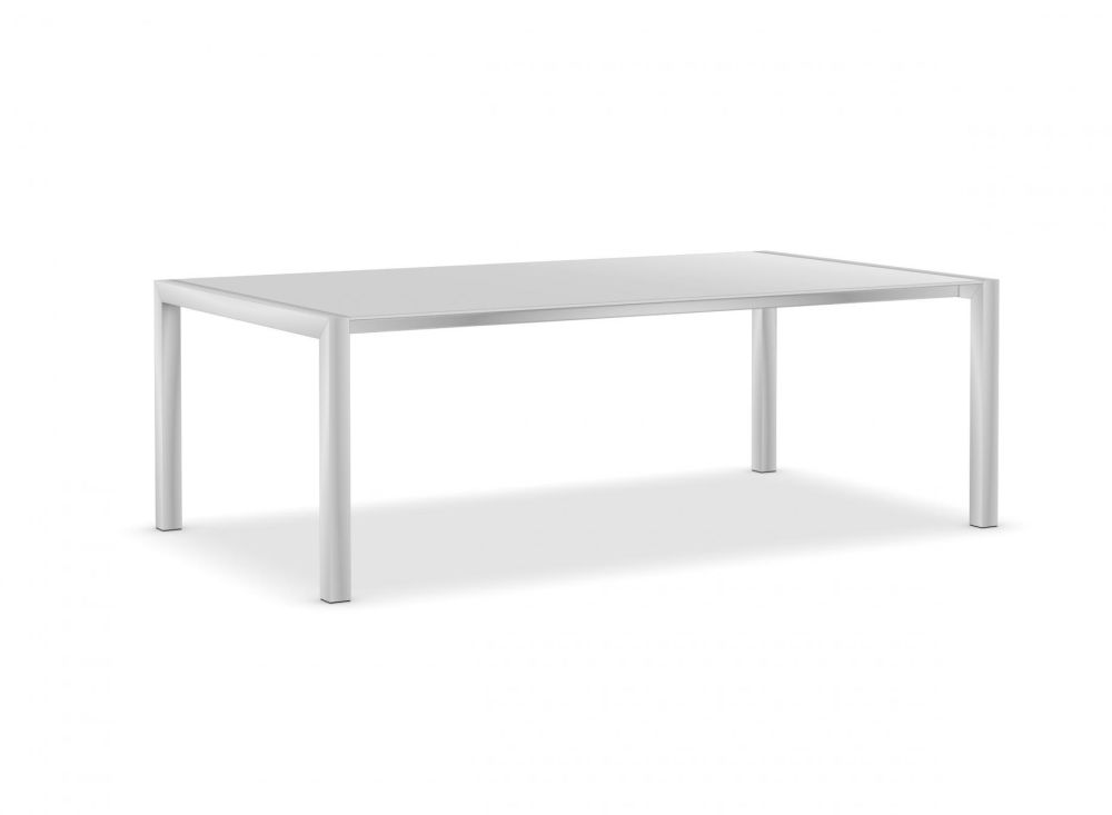 220, Anodised Aluminium, Gloss glass: Extra White,Kristalia,Tables & Desks,coffee table,end table,furniture,outdoor table,rectangle,sofa tables,table