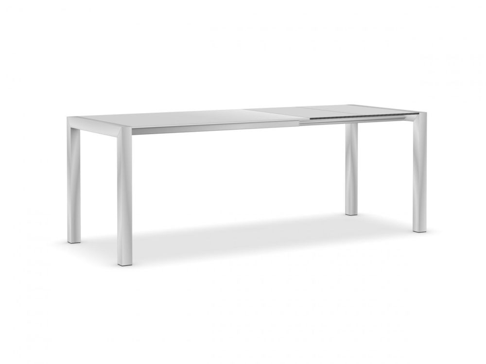 125-165-205, Anodised Aluminium, Gloss glass: Extra White, Alucompact white, Alucompact white,Kristalia,Tables & Desks,desk,furniture,outdoor table,rectangle,sofa tables,table