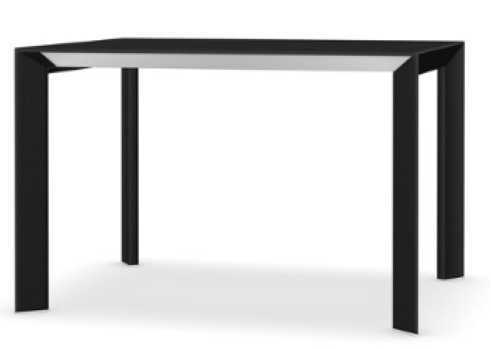 114 cm, Anodised Aluminium, Alucompact white,Kristalia,Tables & Desks,desk,end table,furniture,line,outdoor furniture,outdoor table,rectangle,sofa tables,table