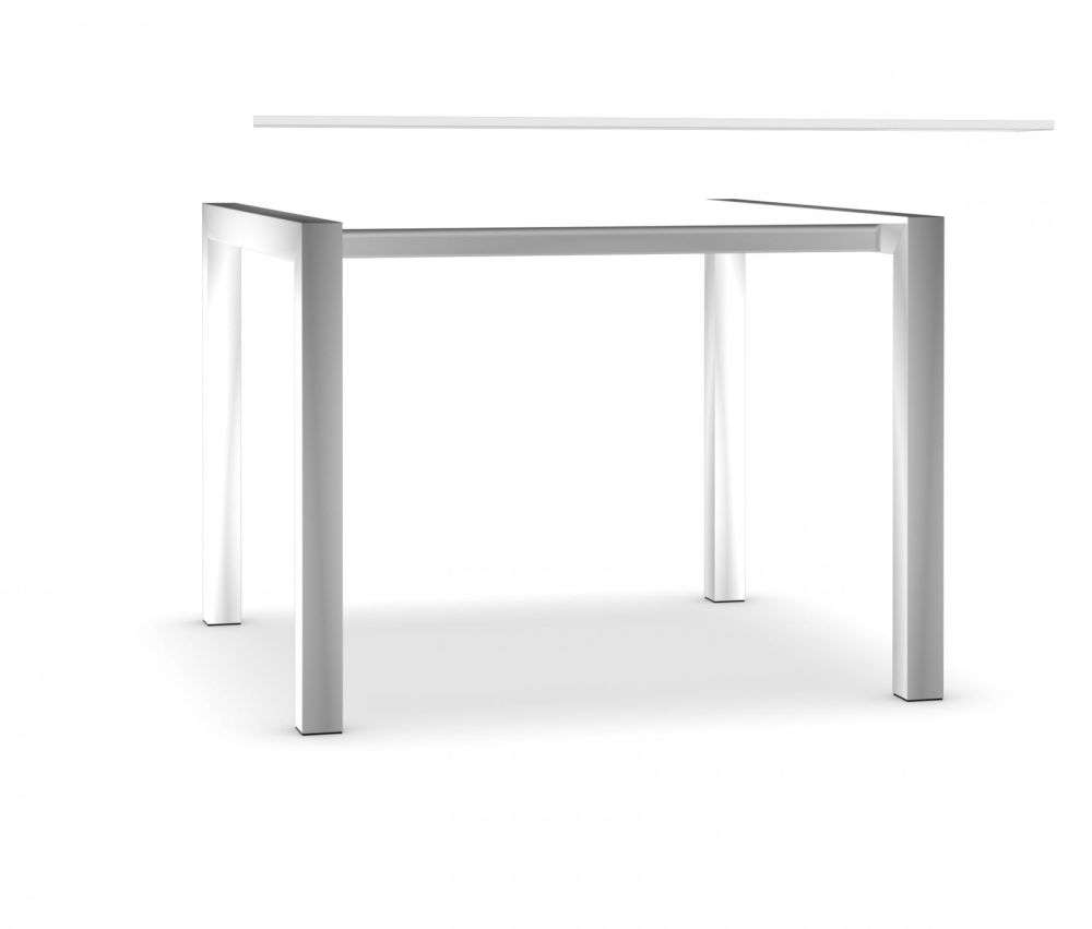 100, Anodised Aluminium, Alucompact white,Kristalia,Tables & Desks,desk,furniture,line,outdoor table,rectangle,sofa tables,table