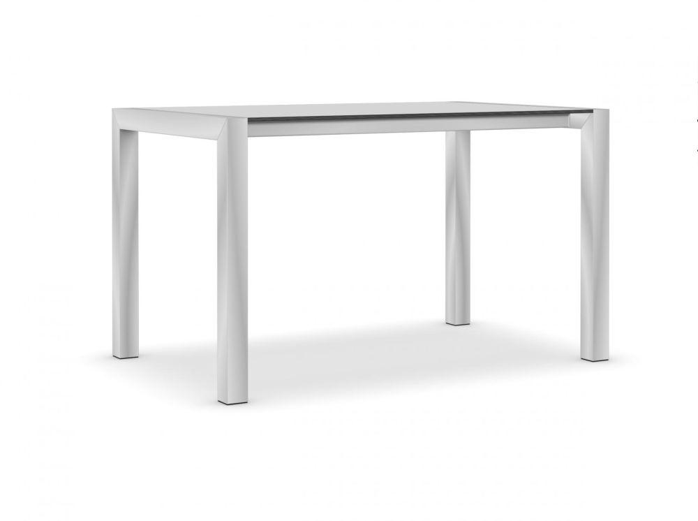 80, Anodised Aluminium, Alucompact white,Kristalia,Tables & Desks,desk,furniture,outdoor table,rectangle,sofa tables,table